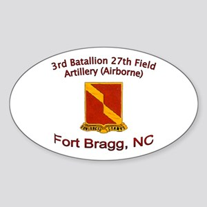 3rd Bn 27th FA Sticker (Oval)